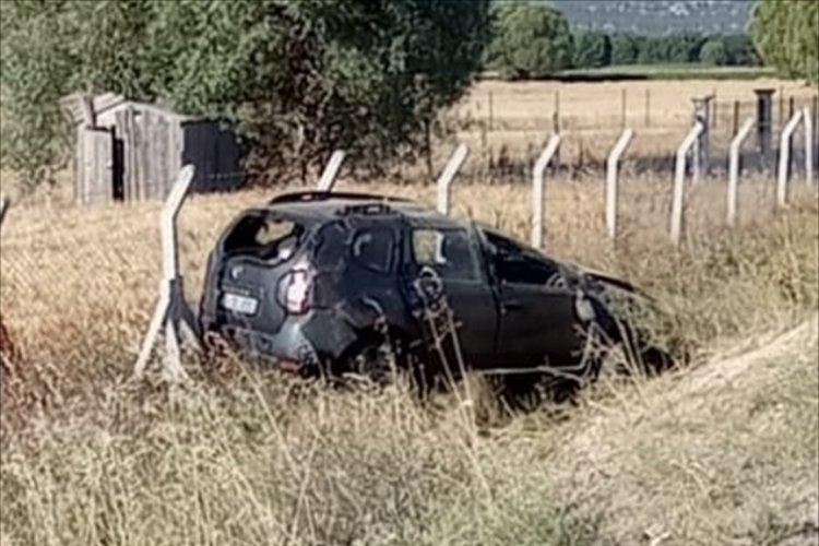 Şarampole devrilen araçta 6 yaralı