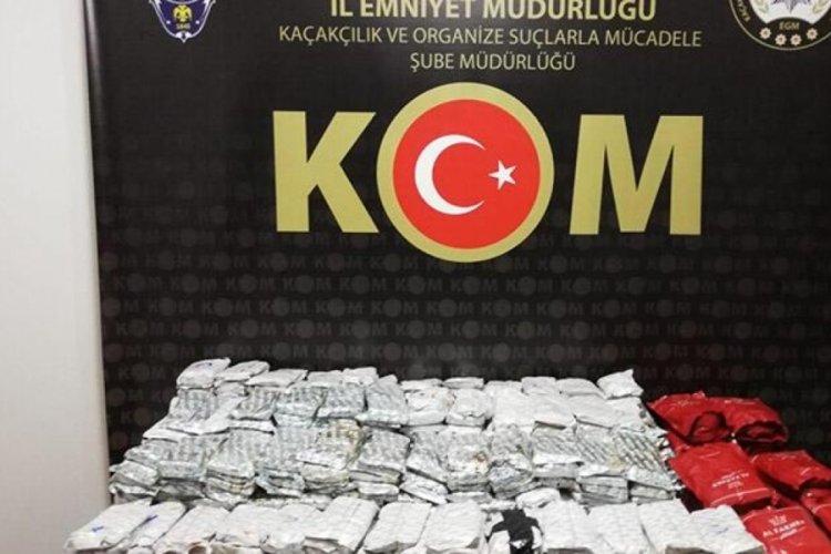 206 kilo kaçak tütün ele geçirildi