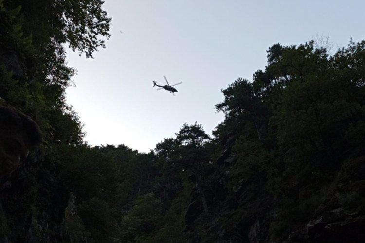 Bursa'da askeri helikopterli kurtarma operasyonu