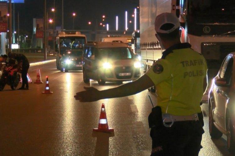 Bursa'da trafik ekipleri bayram öncesi sahada