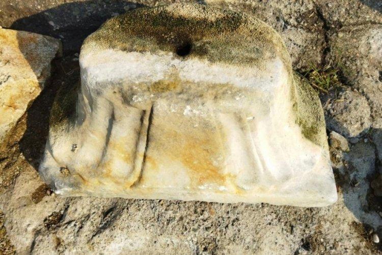 Bursa İznik'te tarihi eser bulundu