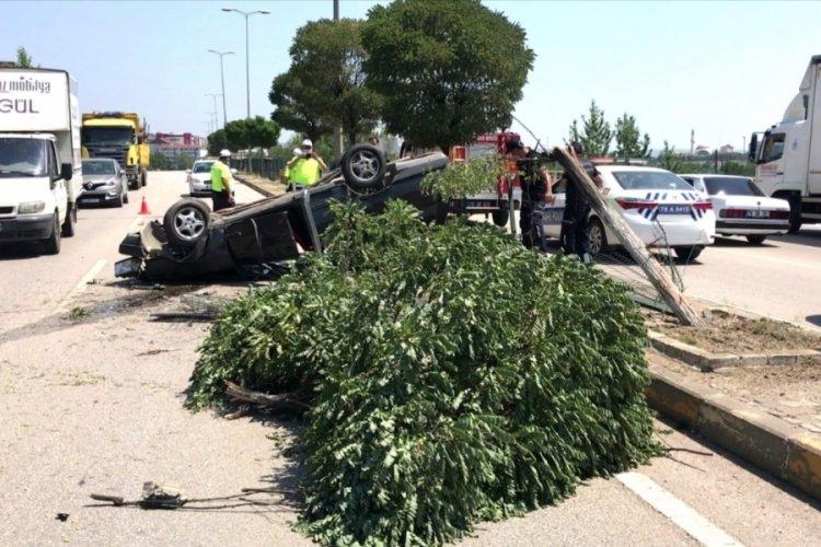 Aynı yolda iki kazada 10 kişi yaralandı
