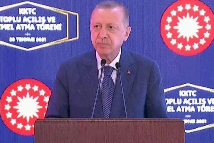 Cumhurbaşkanı Erdoğan: 'Kıbrıs Türkleri Rumların hukuk ve insanlık dışı ambargosuna mahkum ediliyor'