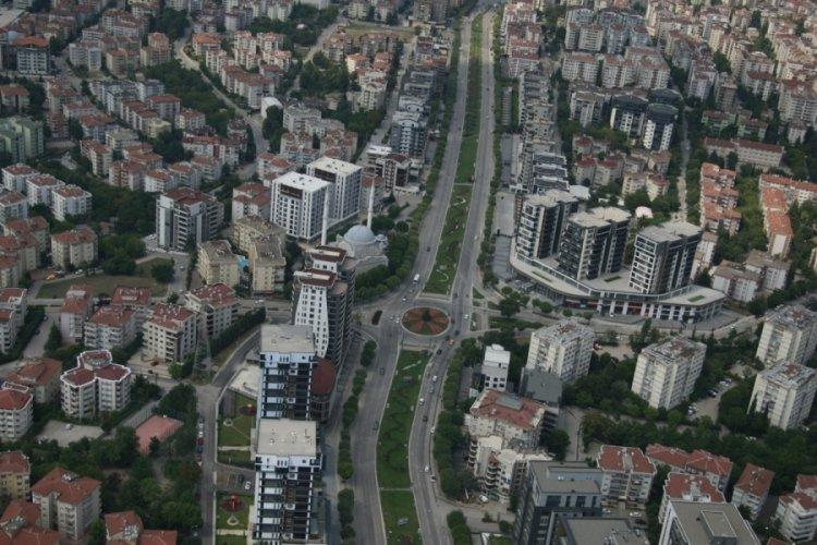 Bursa'da jandarmadan helikopter destekli denetim
