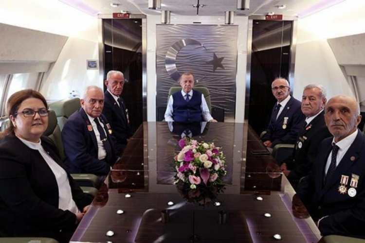 Cumhurbaşkanı Erdoğan, Kıbrıs gazileriyle görüştü!