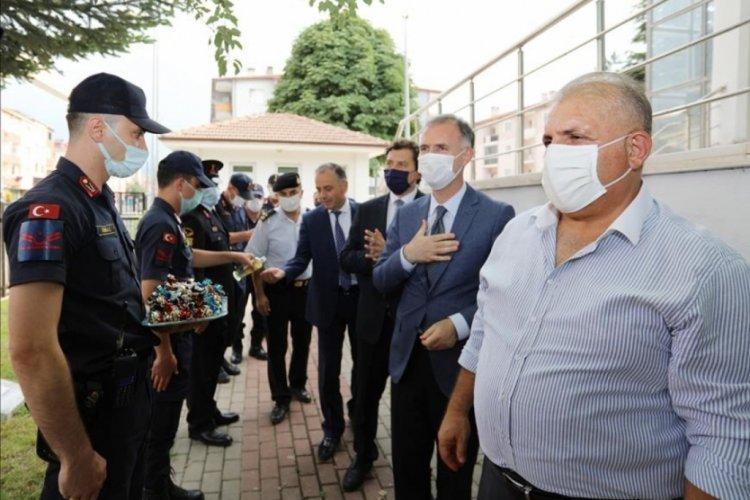 Bursa İnegöl Belediyesi'nde protokol ve vatandaşlar bayramlaştı