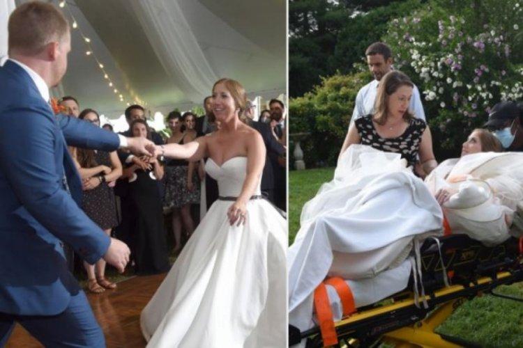 Düğünde görülmemiş felaket! İlk dans hastanede bitti