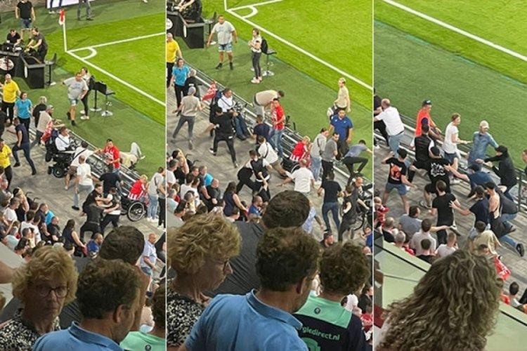 Galatasaray-PSV maçında devre arasında gerginlik