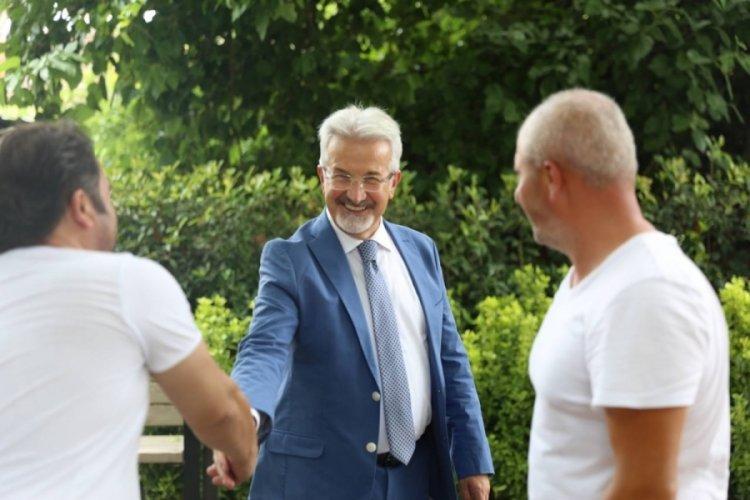 Bursa Nilüfer Belediye Başkanı Erdem'den bayram ziyaretleri