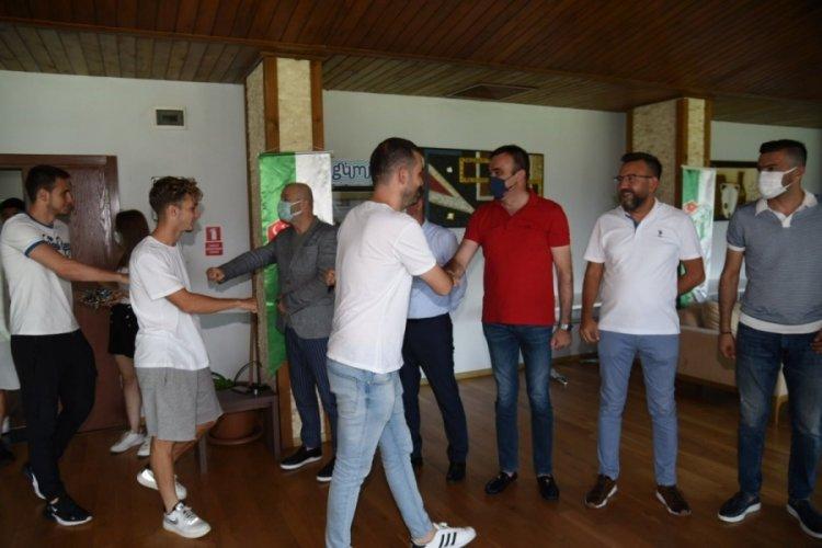 Bursaspor Kulübü'nde bayramlaşma töreni