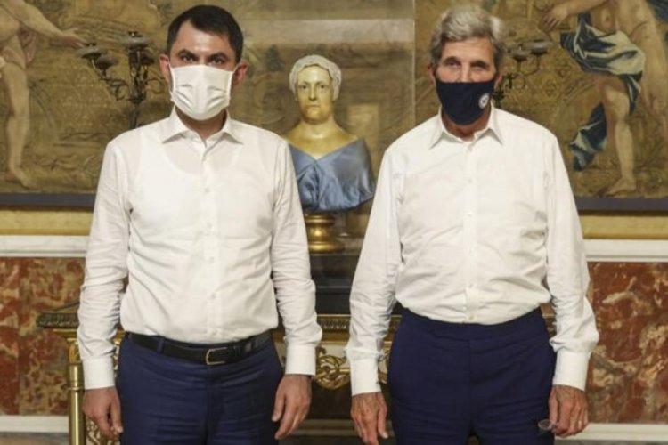Bakan Kurum, John Kerry ile görüştü