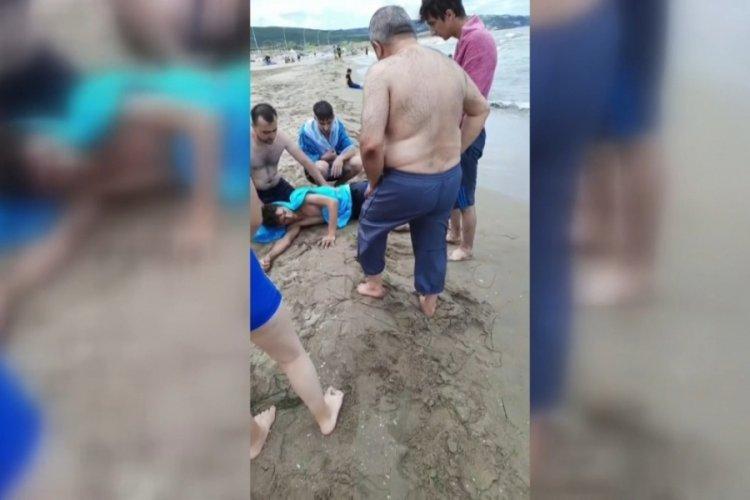 Bursa'da deniz keyfi yaparken canından oluyordu