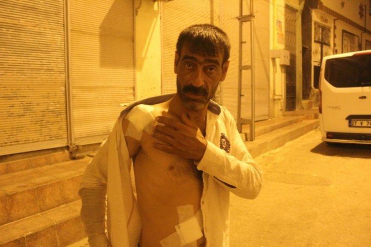 Gaziantep'te çıkan kavgada çay içerken yaralandı