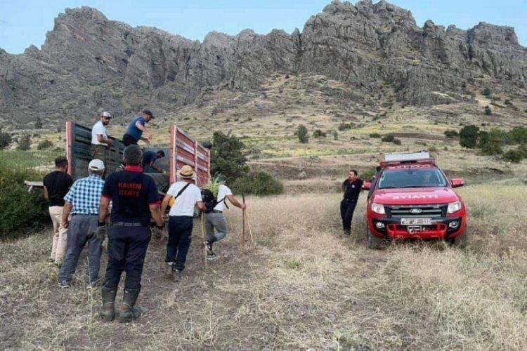 10 gün boyunca mahsur kalan keçiler kurtarıldı