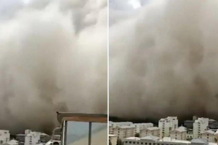 Kum fırtınası şehri saniyeler içinde yuttu!
