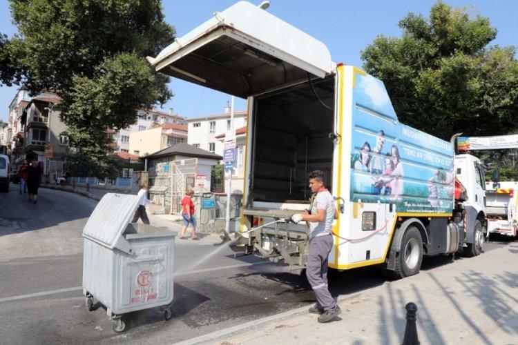 Bursa Mudanya'da temizlik çalışmaları yoğunlaştırıldı