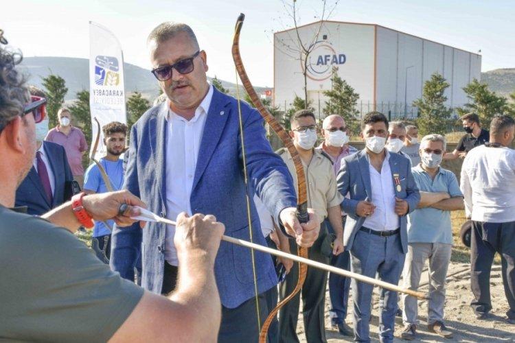 Bursa Karacabey'de okçuluğa destek