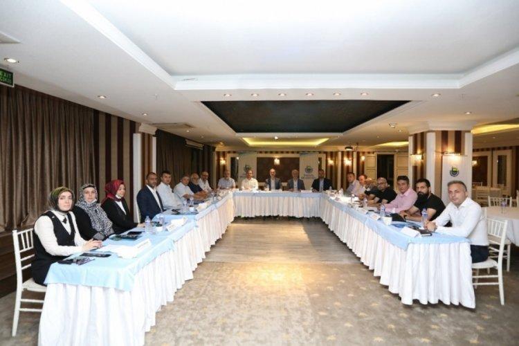 Bursa İnegöl'de 17 sosyal yardım kurumuyla toplantı yapıldı