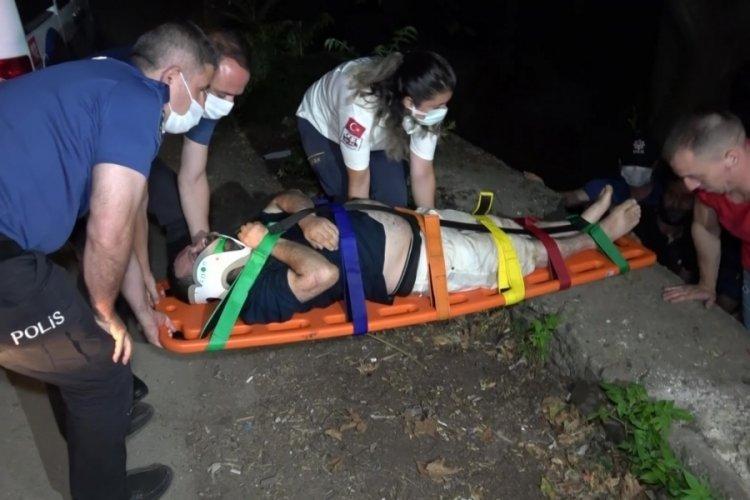 Bursa'da arkadaşlarıyla alkol alırken 4 metre yükseklikten dereye düştü