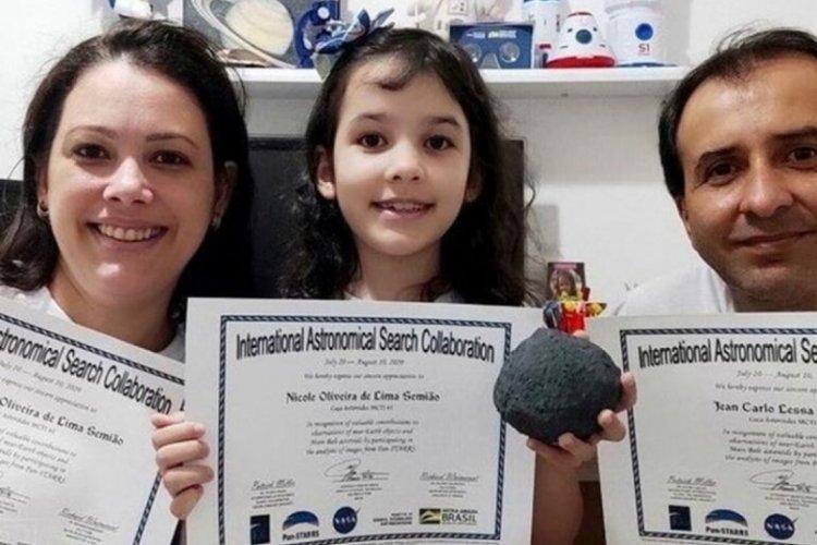 7 yaşında 7 asteroit keşfetti!