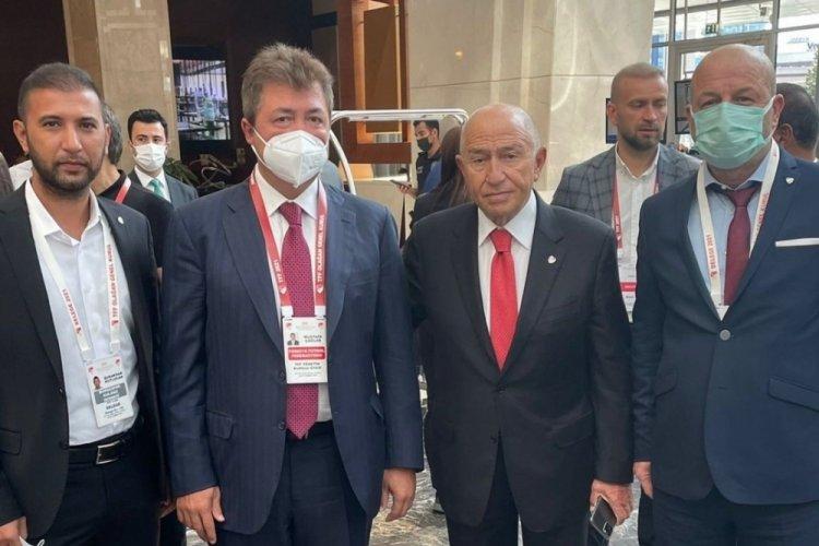 Bursaspor Başkanı Hayrettin Gülgüler, Nihat Özdemir'le görüşme sağladı