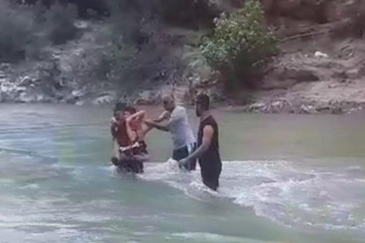 Piknik yaparken mahsur kaldılar