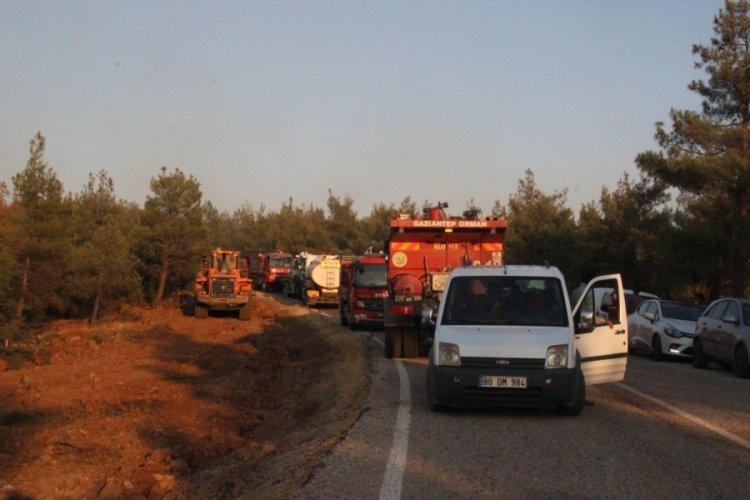Kilis'teki yangın 5 saatte kontrol altına alındı