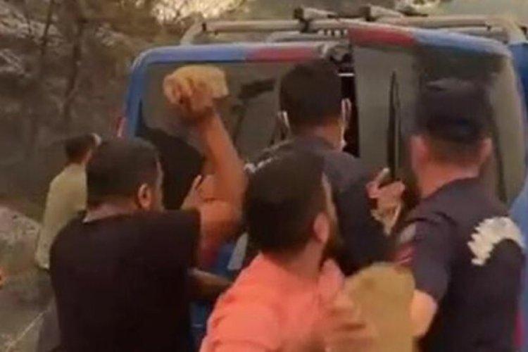 Manavgat'ta ormanı yaktığı iddia edilen 2 kişiye linç girişimi