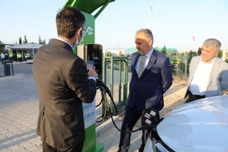 Bursa'da  elektrikli araç şarj üniteleri hizmet sunmaya başladı
