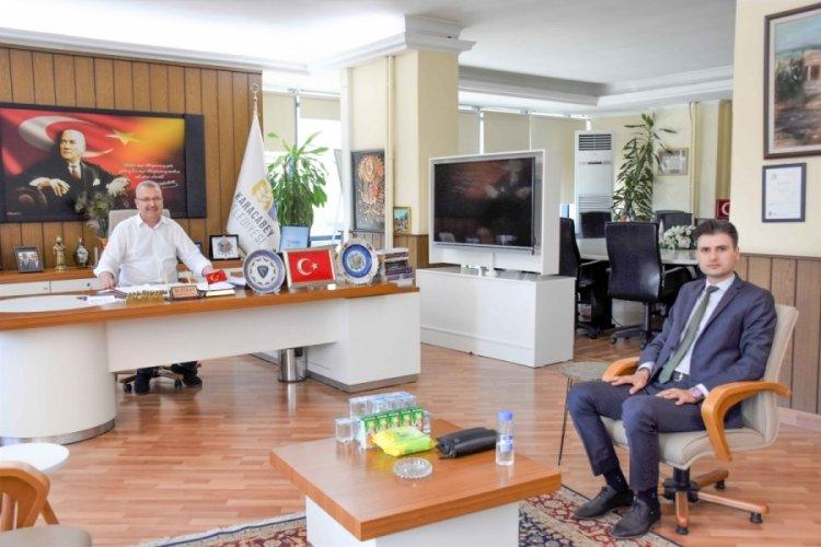 Bursa Karacabey Belediye Başkanı Özkan'dan Başsavcı Gümüş'e 'hayırlı olsun' ziyareti