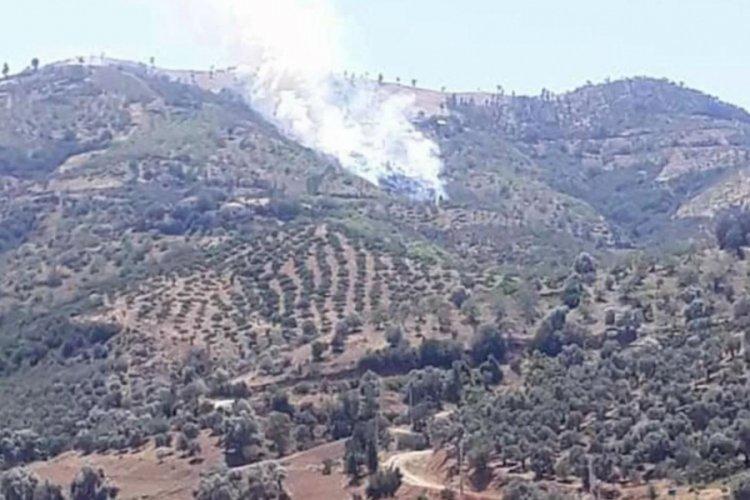 İzmir'in Kiraz ilçesinde orman yangını