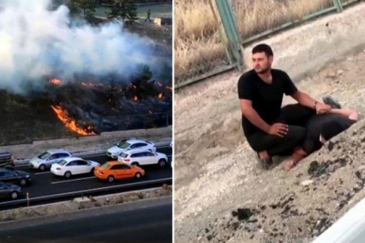 Ankara'da yangın çıkarmaya çalışan şüpheli tutuklandı
