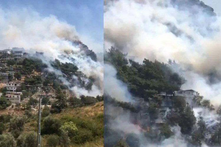 Hatay Antakya'da yangın! Habib-i Neccar eteklerindeki bazı evler tahliye edildi