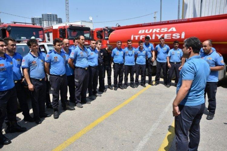 Bursa itfaiyesi Marmaris'teki yangınlara destek için yolda!