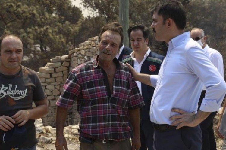 Bakan Murat Kurum, Manavgat'taki yangından etkilenen vatandaşları dinledi