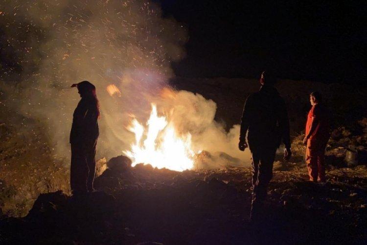 Bursa İznik'te korkutan çalılık yangını