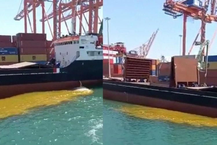 Mersin'de gemiden denize paslı su boşaltılmasına tepki!