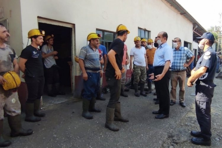 Bursa'da maden işçilerine kaymakamdan ziyaret