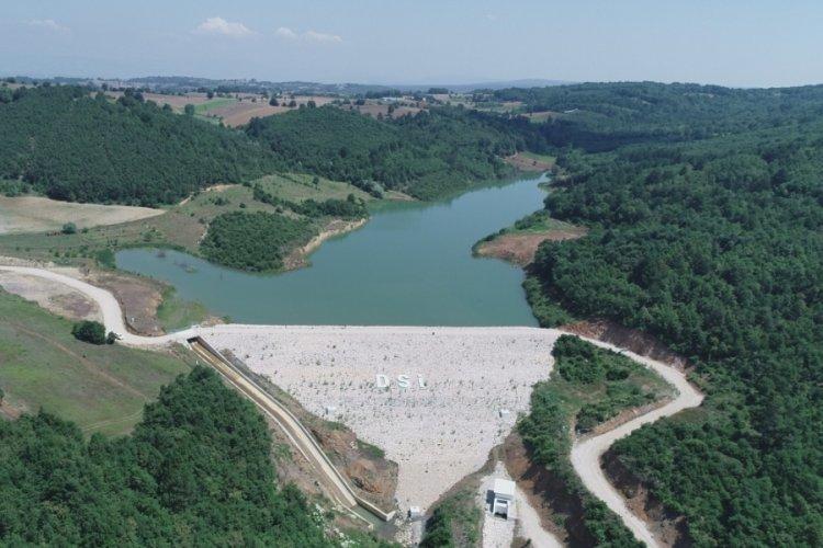 Bursa'da Tekke göleti inşaatı devam ediyor