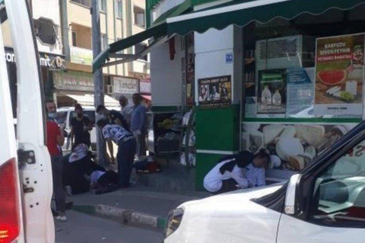 Bursa'da şarküteri dükkanında korku dolu anlar... Zehirlenip yere yığıldılar