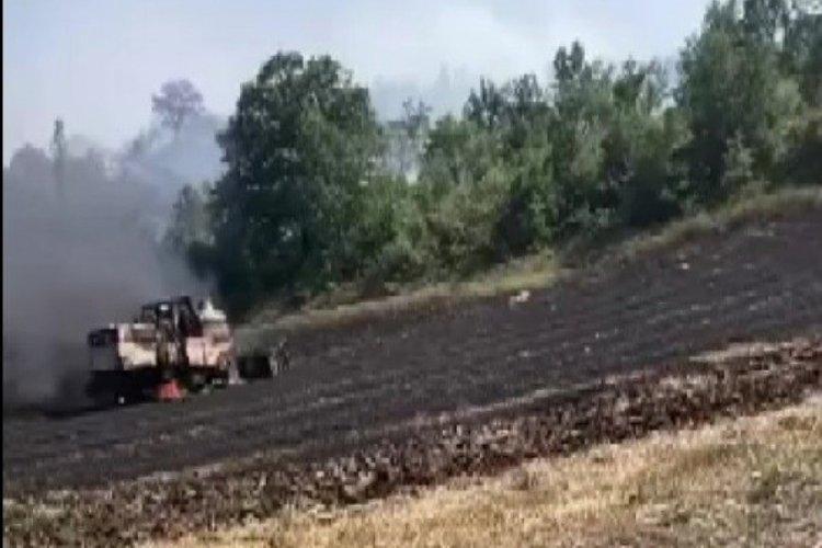 Bursa Yenişehir'de anız yakan bir çiftçiye ceza kesildi
