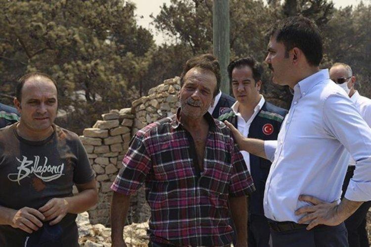 Bakan Kurum yangınlarla ilgili hasar tespit çalışmalarını paylştı