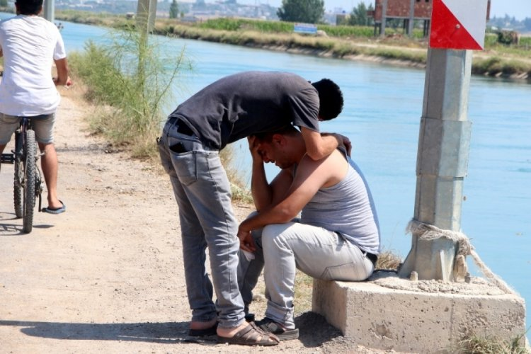 Adana'da sulama kanalına giren genç kayboldu!