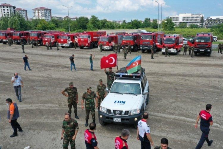 Azerbaycan yardım ekipleri Ordu'da yakıt ikmali yaptı!