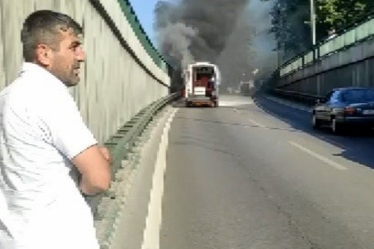 Bursa'da ambulans alev aldı