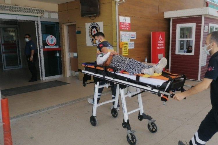 Bursa'da kamyonetin çarptığı kadın yaralandı