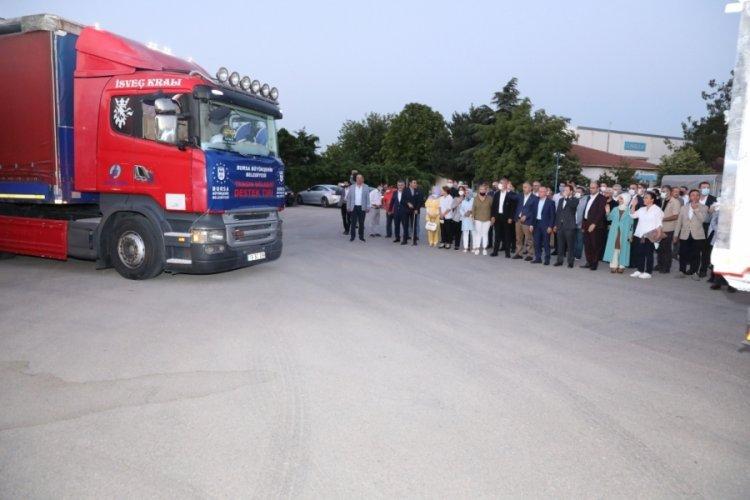 Bursa'dan yangın bölgelerine yardım konvoyu