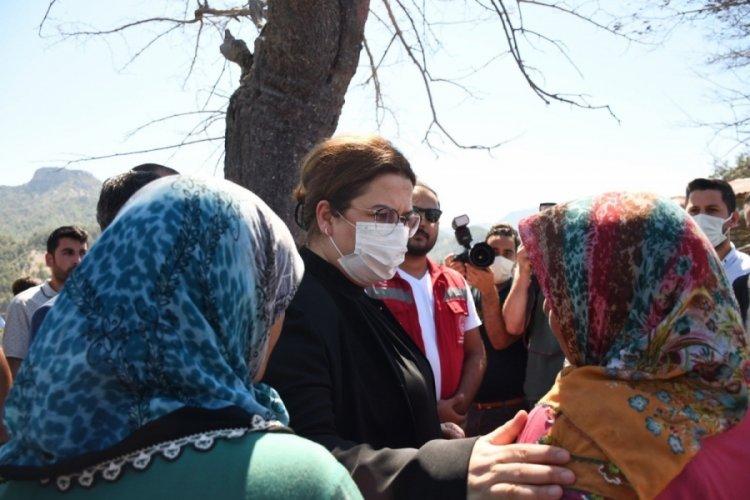 Bakan Yanık'tan yangın bölgelerine ek kaynak açıklaması
