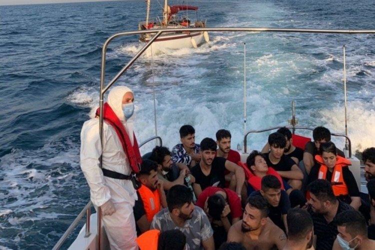 63 kaçak göçmen ile 2 organizatör yakalandı