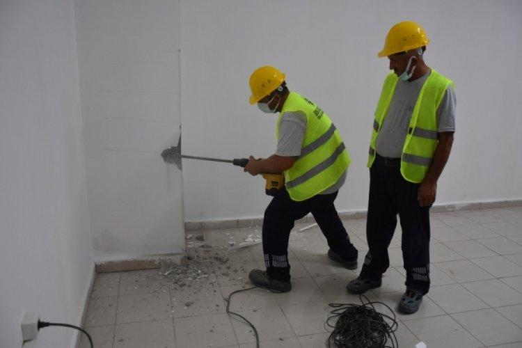 Bursa Gemlik belediye binalarında hızlı tarama